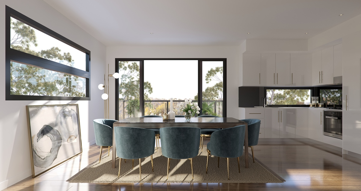 Unit 29_Living with Kitchen A