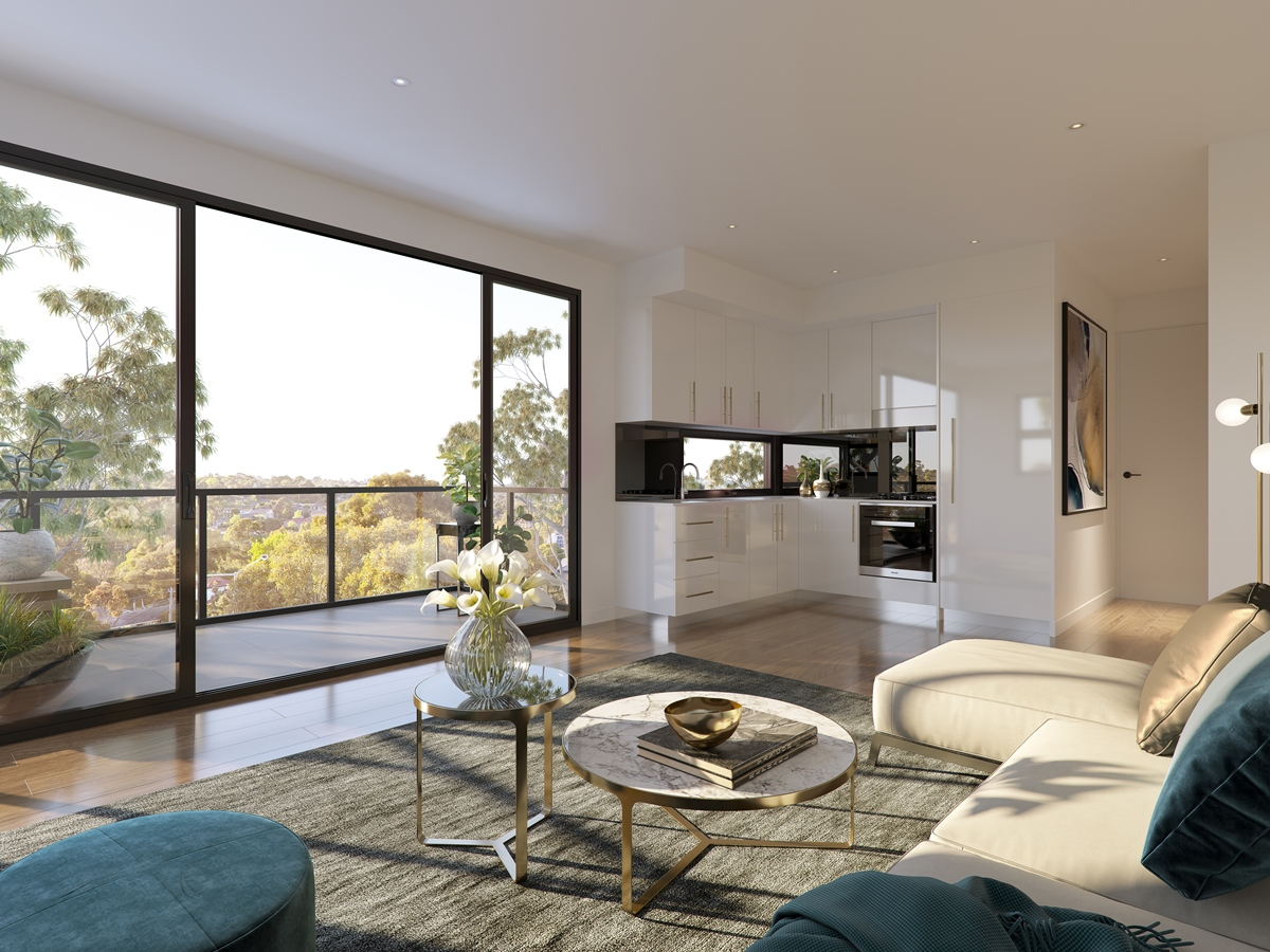 Unit 29_Living with Kitchen_B